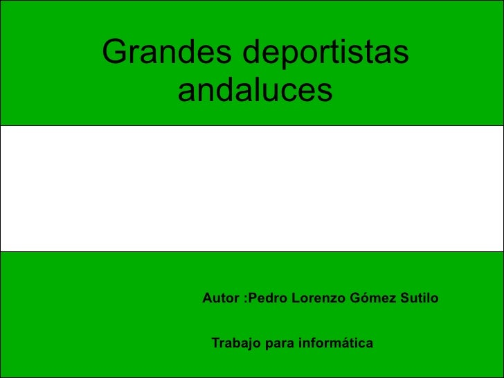 Deportistas andaluces