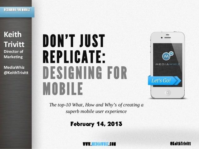 MediaWhiz POV: Mobile Creative Best Practices