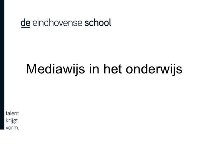 Mediawijs in het onderwijs
