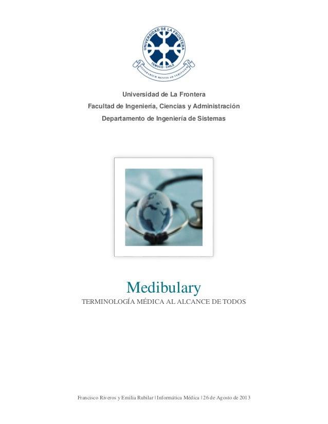 Medibulary - Sistema de Terminología Médica