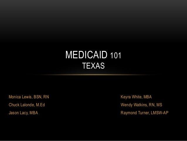 Medicaid 101 texas