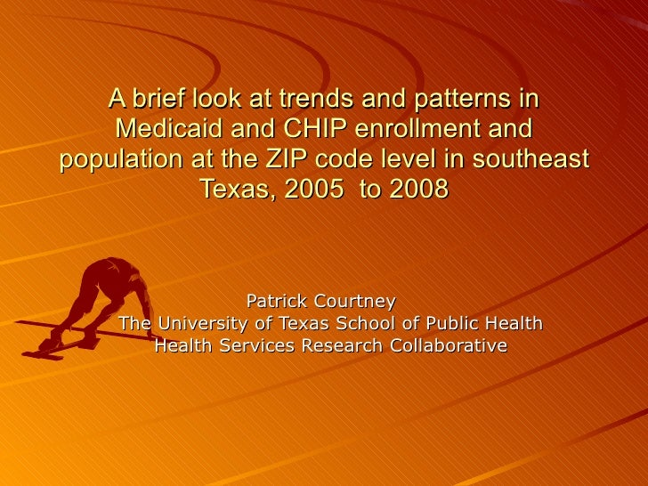 A brief look at trends and patterns in Medicaid and CHIP enrollment and population at the ZIP code level in southeast Texa...