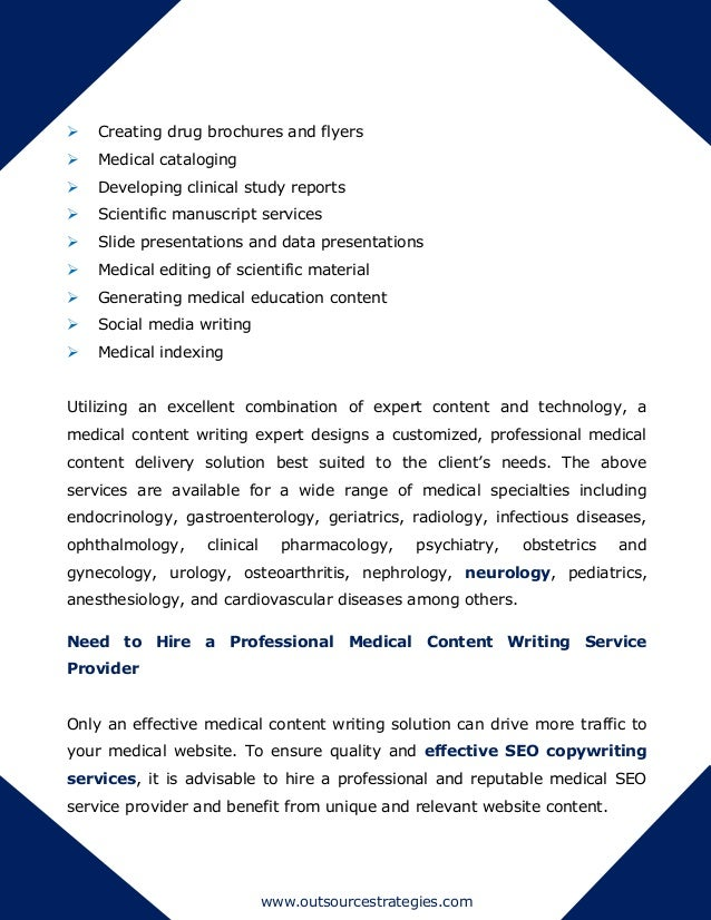 What is a best writing service for Medical content writing and scientific content writing?