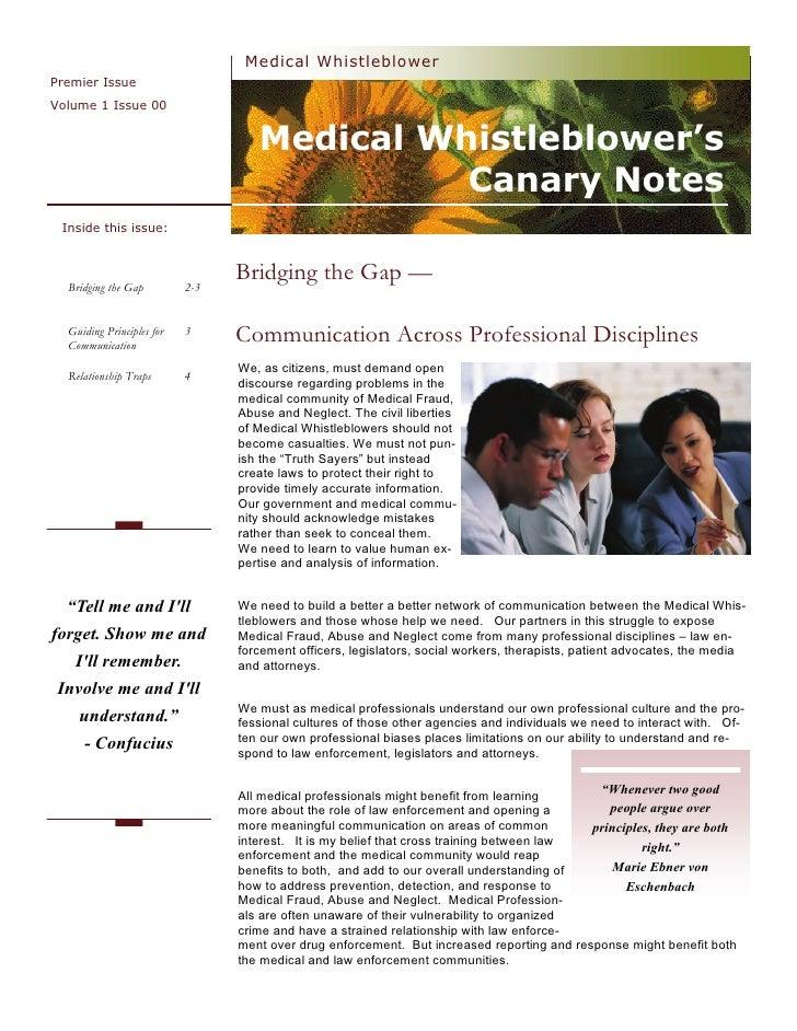 Medical Whistleblower Premier Issue Volume 1 Issue 00                                       Medical Whistleblower's       ...