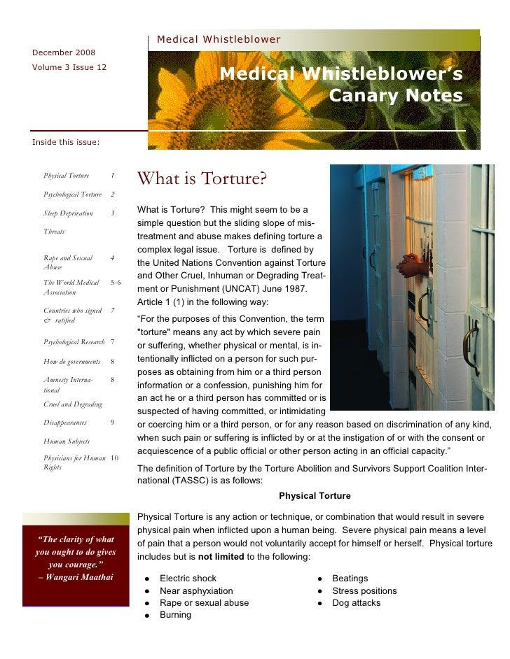 Medical Whistleblower December 2008                                                        Medical Whistleblower's Volume ...