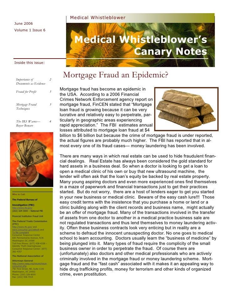 Medical Whistleblower   June 2006   Volume 1 Issue 6                                                  Medical Whistleblowe...