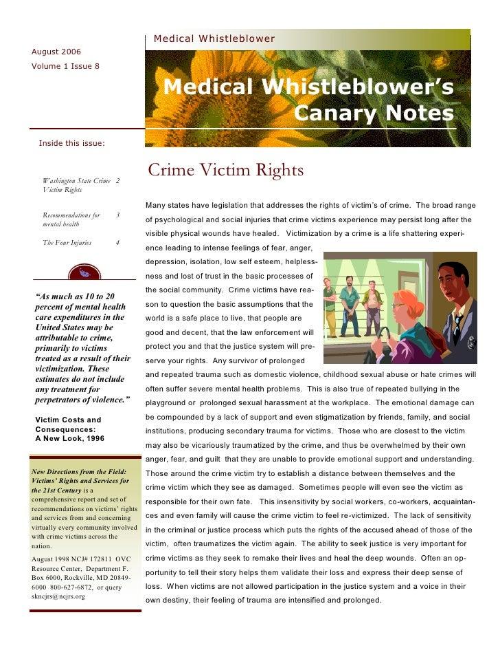 Medical Whistleblower August 2006 Volume 1 Issue 8                                            Medical Whistleblower's     ...