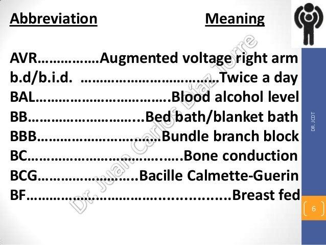 Medical Abbreviations I March 24 13