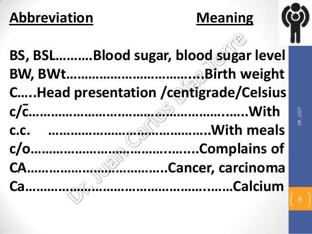Bed Bath Abbreviation Medical