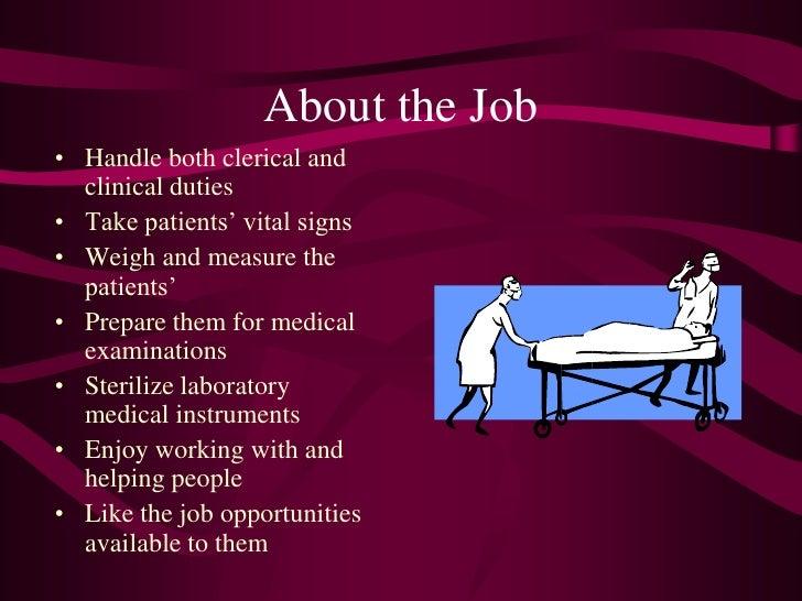 Medical Assitant Duties  Clerical Assistant Job Description