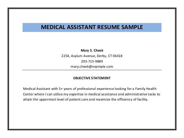 sample resume medical technologist