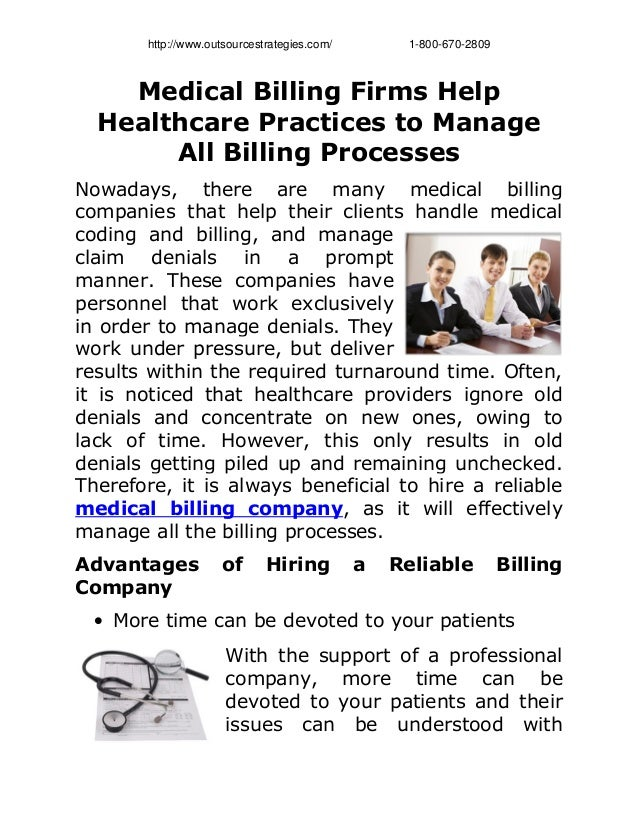 Medical billing firms help healthcare practices to manage all billing processes