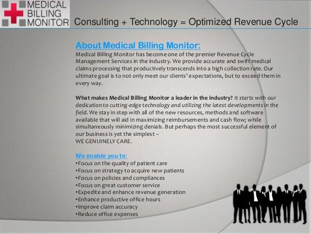 Medical billing monitor.