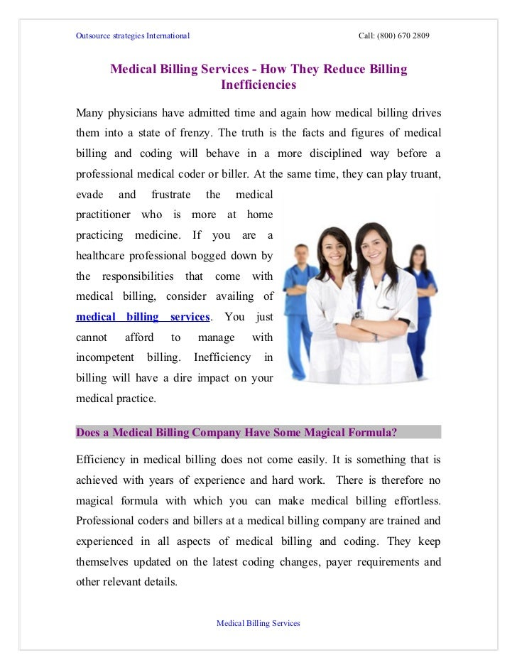 Medical billing services   how they reduce billing inefficiencies