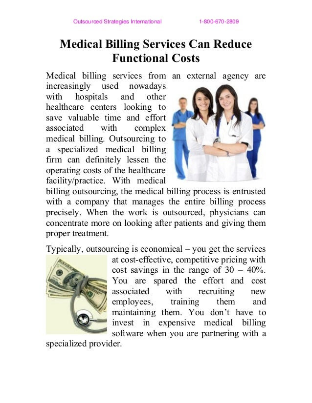 Medical Billing Services Can Reduce Functional Costs