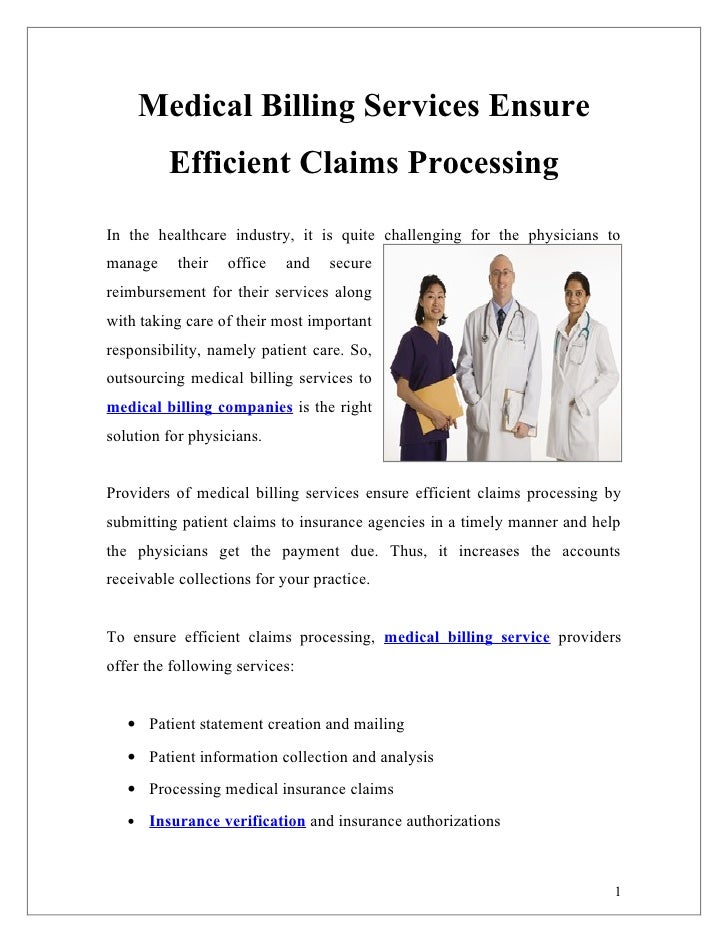 Medical Billing Services Ensure         Efficient Claims ProcessingIn the healthcare industry, it is quite challenging for...