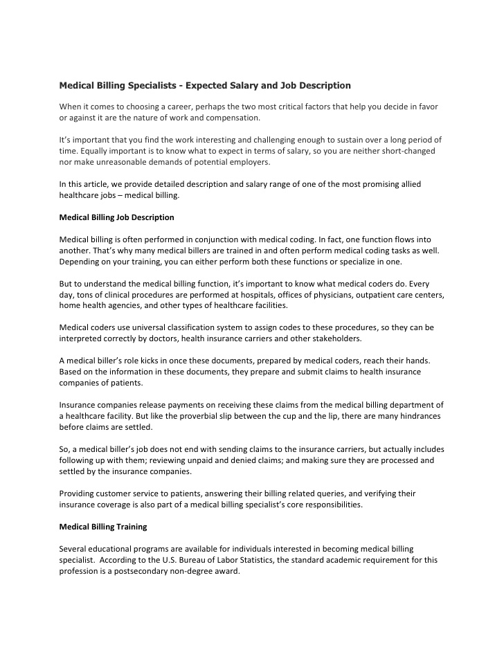 Clinical Coder Medical Coding And Billing Job Description