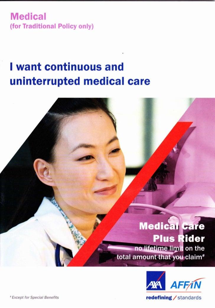 Medical care plus AXA Affin Plan