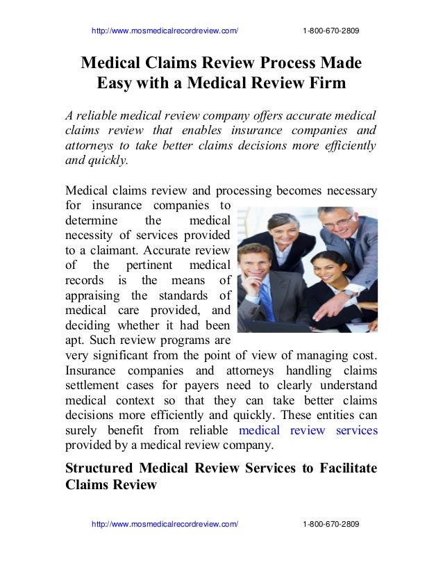 http://www.mosmedicalrecordreview.com/                             1­800­670­2809  Medical Claims Review Proce...
