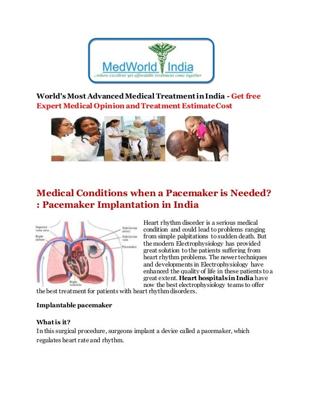 Medical conditions when a Pacemaker is needed | Best Heart Surgery Hospital India