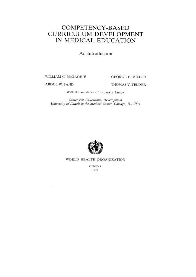 Medical curriculum development