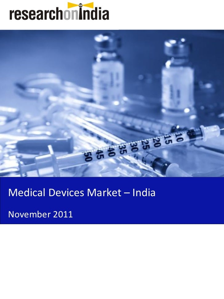 Medical Devices Market in India 2011 - Sample