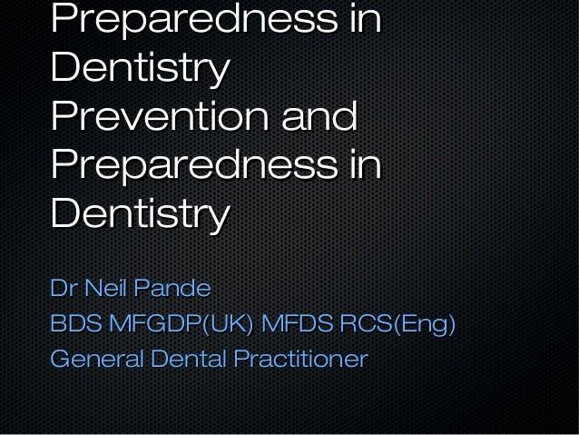 Medical Emergency Prevention and Preparedness