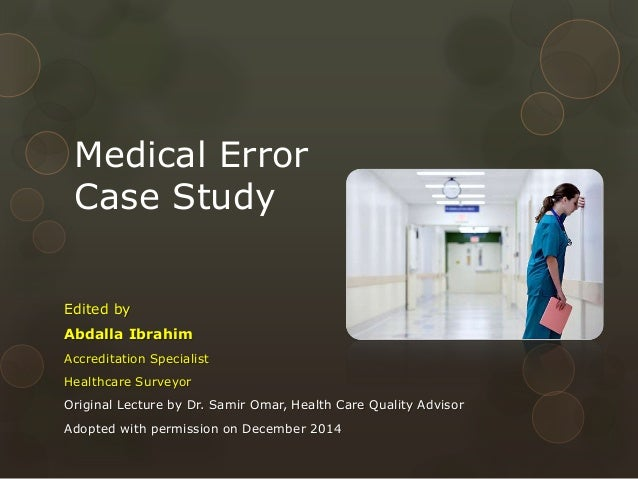 case study medical error