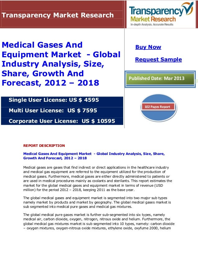 Transparency Market ResearchMedical Gases And                                                         Buy NowEquipment Mar...