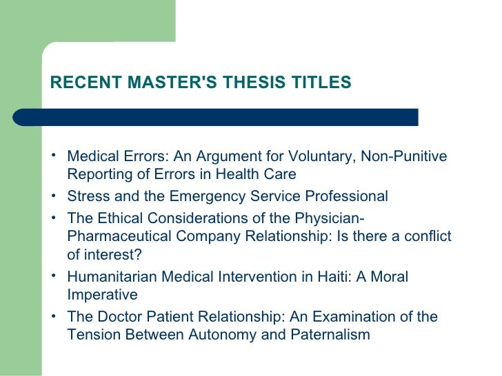 master thesis ethical considerations