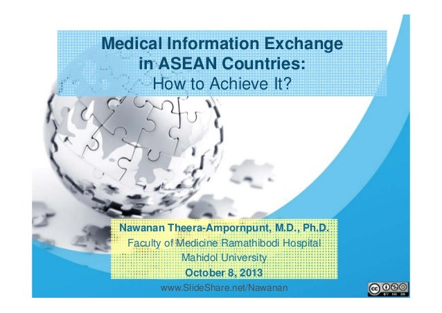 1 Nawanan Theera-Ampornpunt, M.D., Ph.D. Faculty of Medicine Ramathibodi Hospital Mahidol University October 8, 2013 Medic...