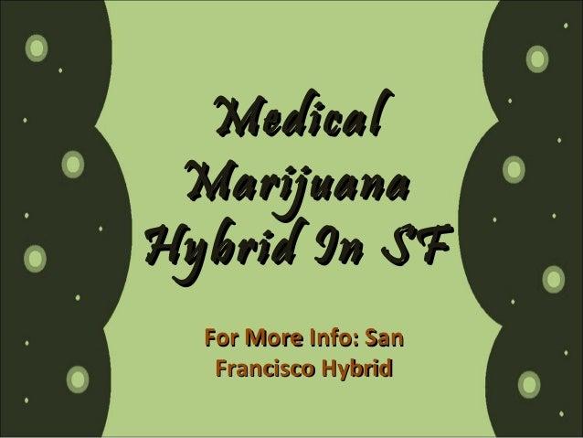 Medical Marijuana Hybrid In SF