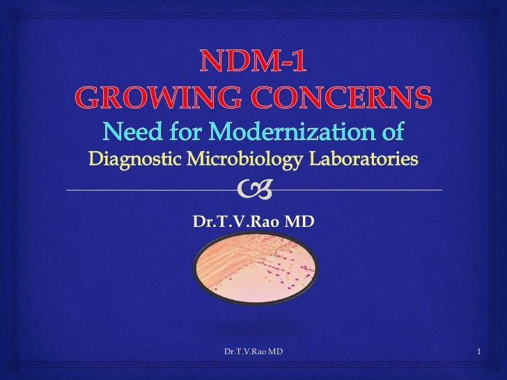 NDM - 1 Role of Microbiology Laboratories
