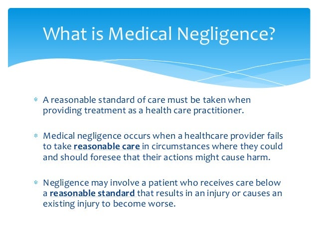 essays on medical negligence Open document below is an essay on medical negligence from anti essays, your source for research papers, essays, and term paper examples.