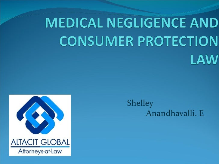 Medical negligence and consumer protection law