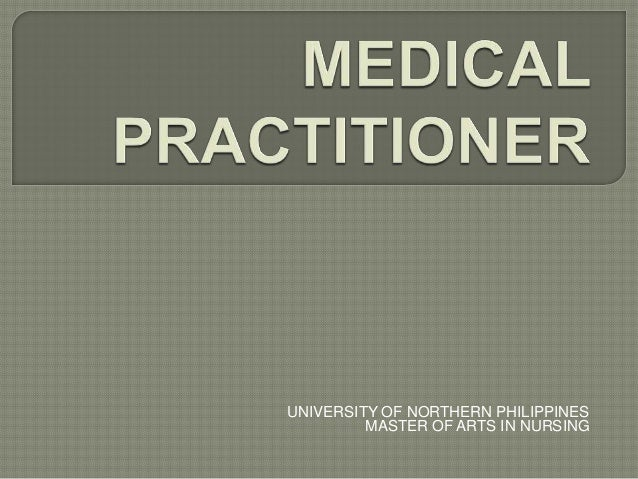Medical Practitioner: Traditional Healers