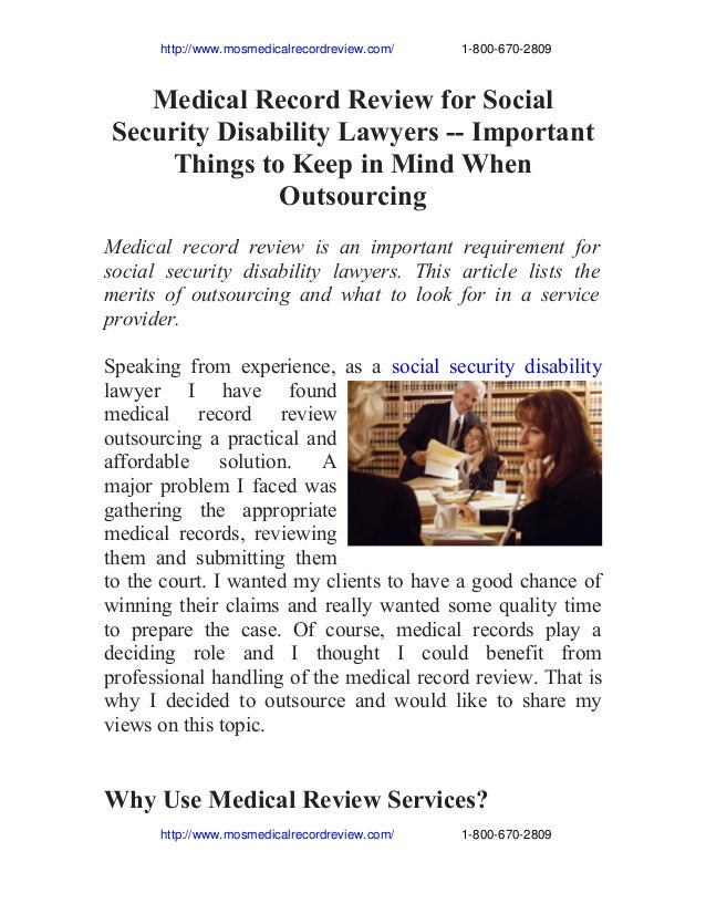 http://www.mosmedicalrecordreview.com/                   1­800­670­2809 Medical Record Review for Social S...