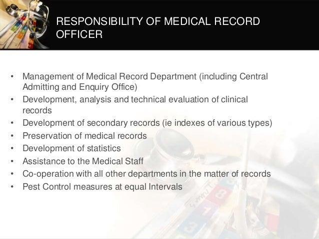 medical records administrator job description