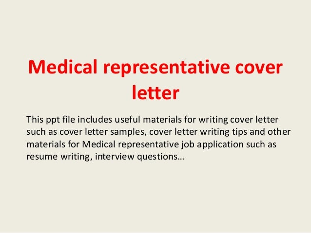 medical sales cover letters