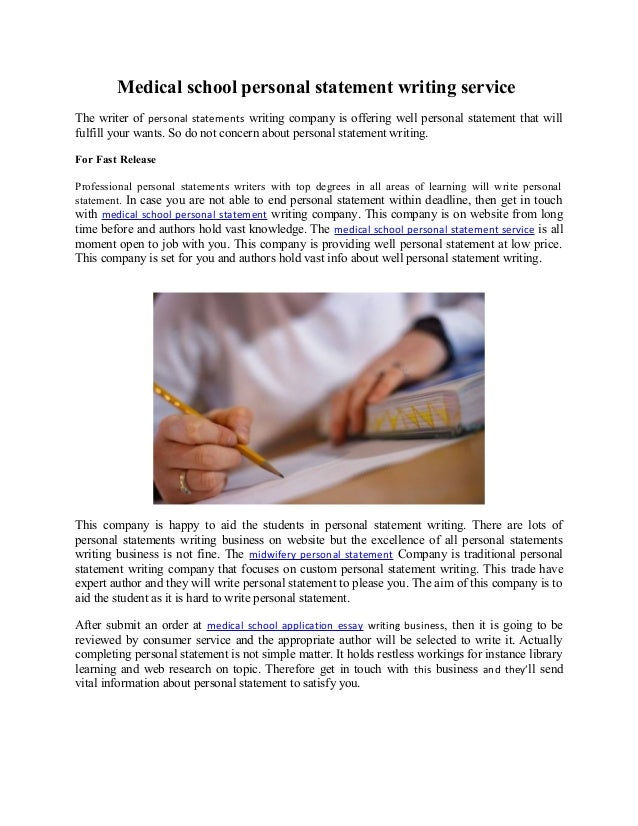Personal statement writers nus medicine