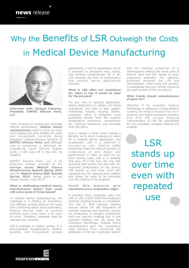 Medical Device Summit Series: Interview with Enrique Camacho, SIMTEC Silicone Parts, LLC