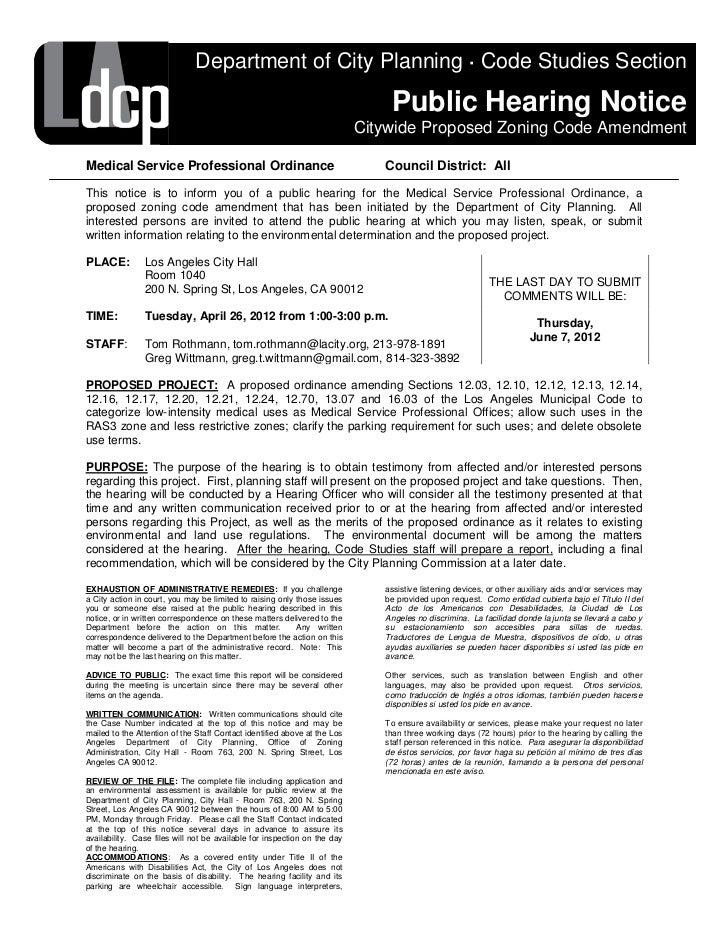 Medical Service Professional Ordinance