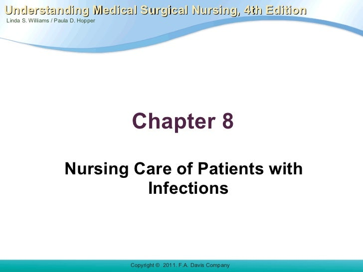 Chapter 8  <ul><li>Nursing Care of Patients with Infections </li></ul>