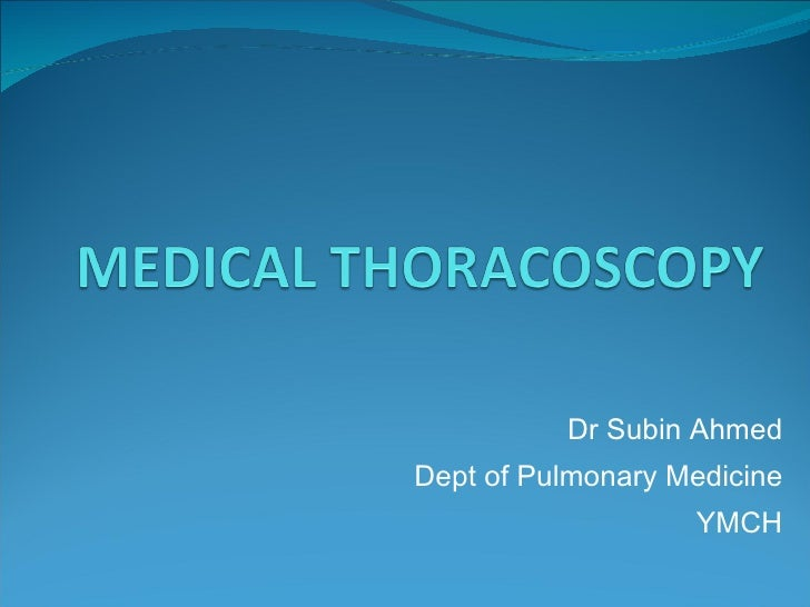 Medical Thoracoscopy