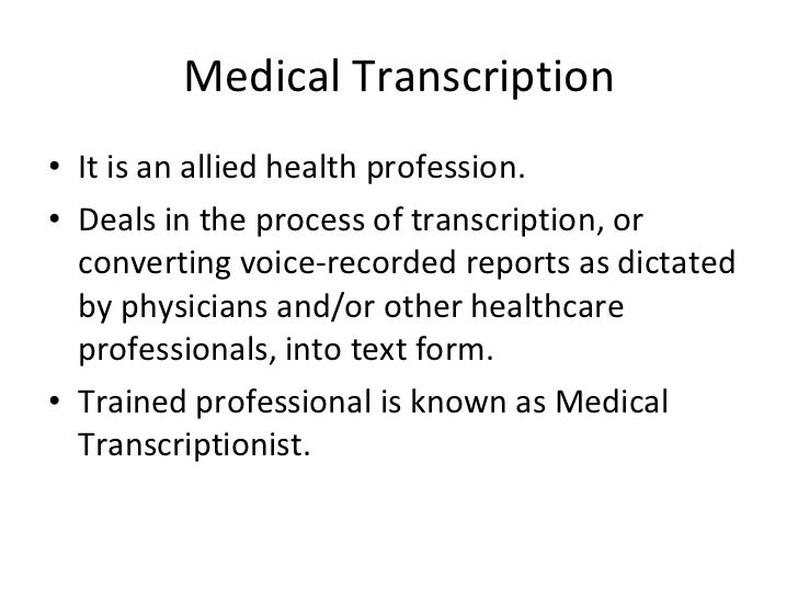 Medical Transcription sample research work
