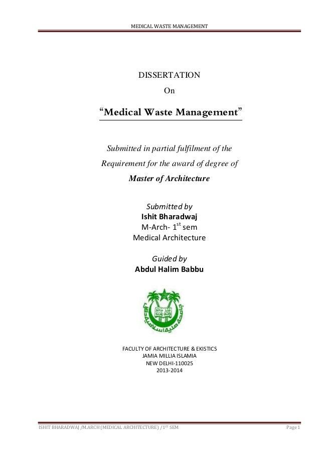 Dissertation on waste management
