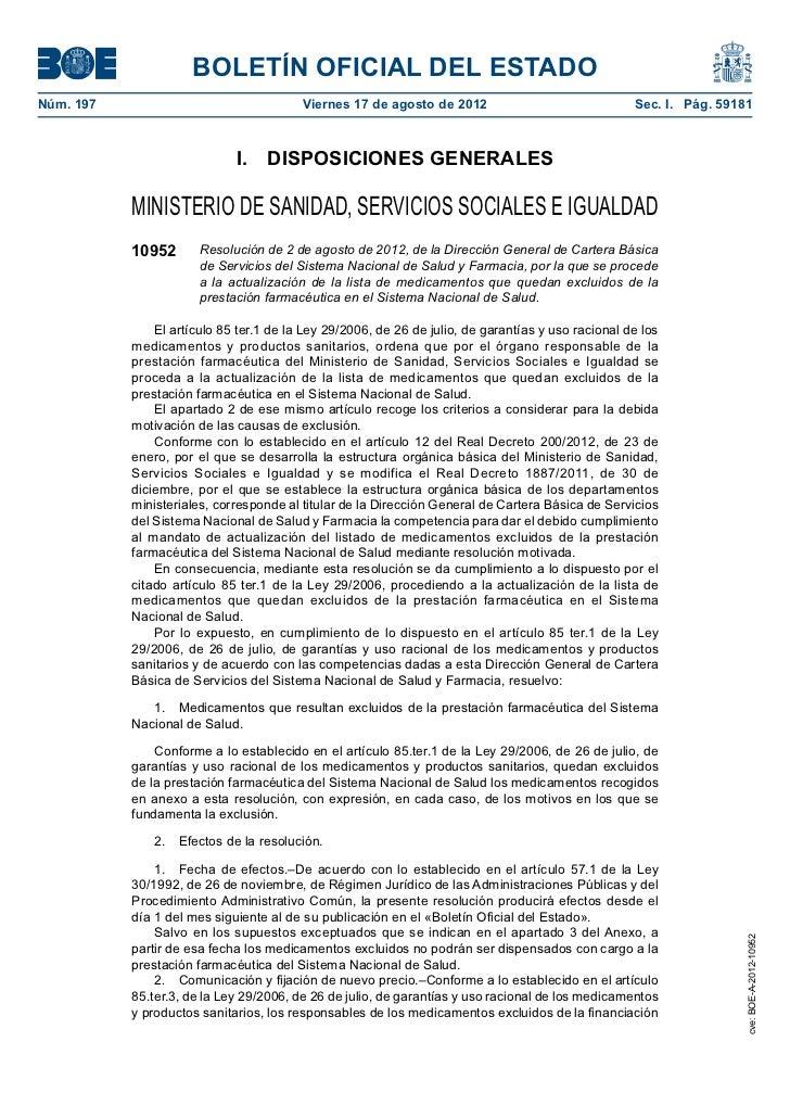 BOLETÍN OFICIAL DEL ESTADONúm. 197                                 Viernes 17 de agosto de 2012                         ...