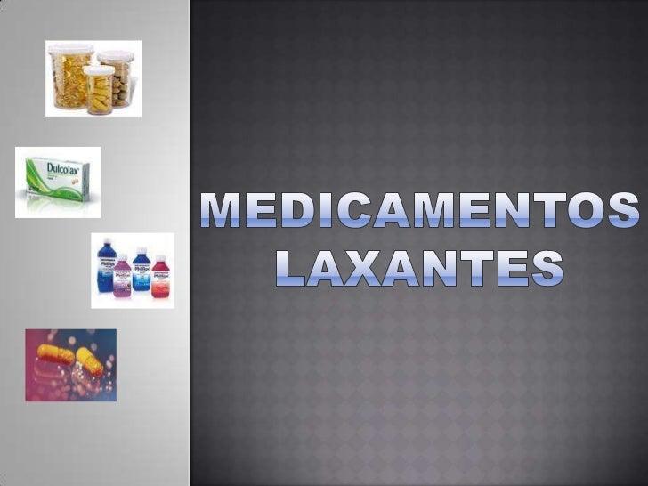 Medicamentos laxantes 1