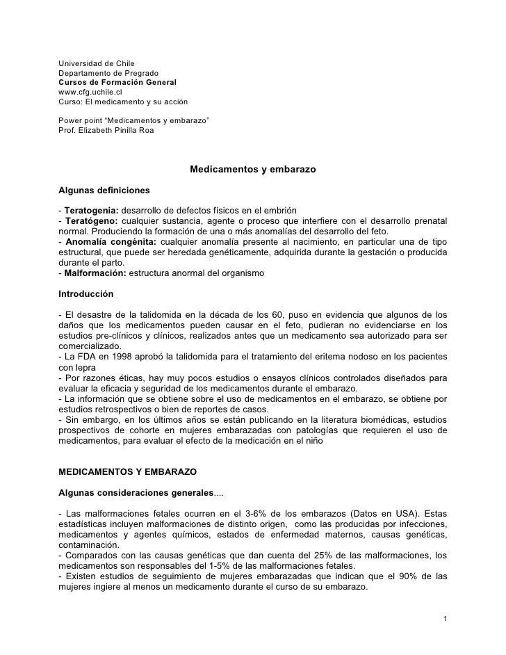 Universidad de ChileDepartamento de PregradoCursos de Formación Generalwww.cfg.uchile.clCurso: El medicamento y su acciónP...