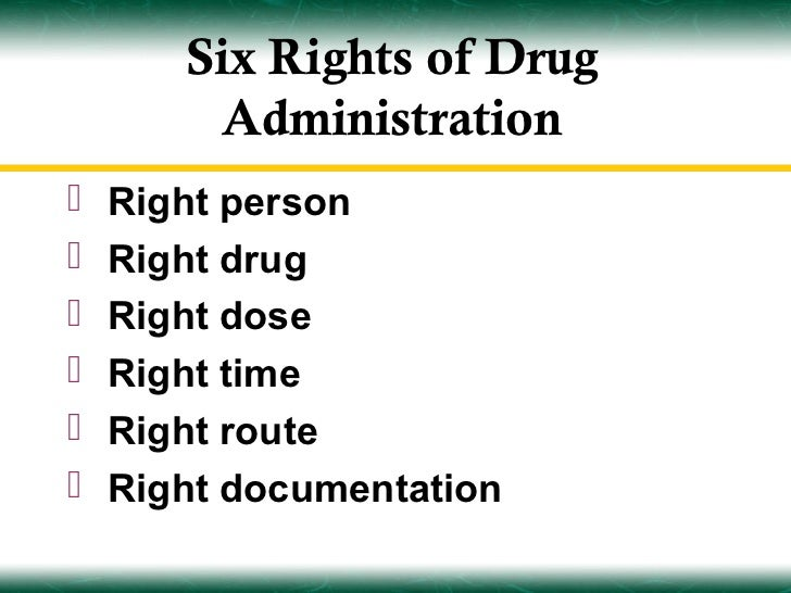 medication administration part 1 With 6 rights of medication